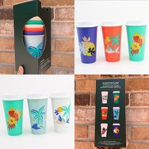 Starbucks Reusable Hot Cups Summer 2020 set of 6